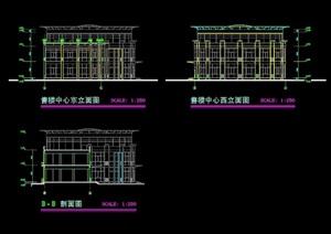 售楼中心详细多层建筑cad施工图