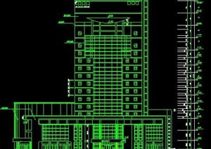 现代高层广播电视中心建筑图纸