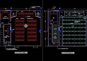 长乐市广播电视中心室内cad施工图