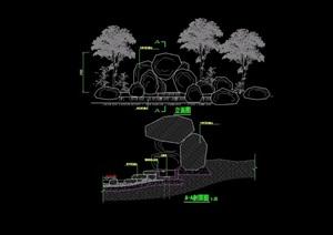 园林景观假山设计cad方案