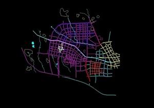 兰溪工业区城市规划cad方案