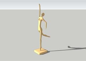 抽象人物雕塑精选素材设计SU(草图大师)模型