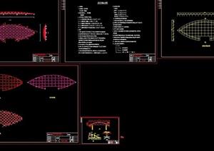 会所网架详细设计cad方案