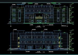 辉龙会所详细多层建筑设计cad施工图