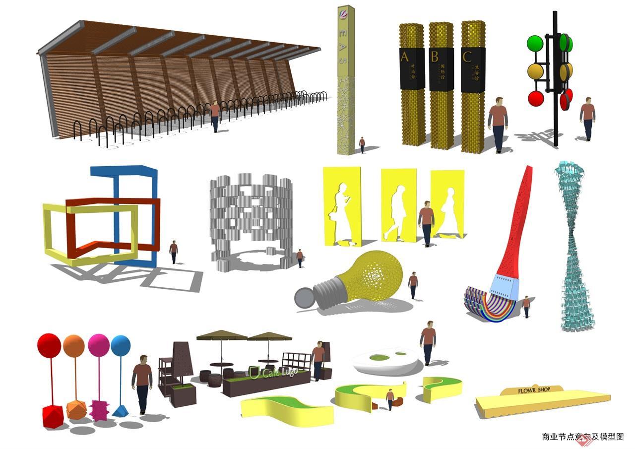 41 商业节点意向及模型图