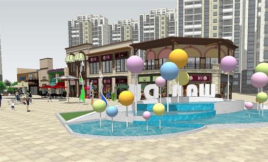 融创商业街景观美陈设计
