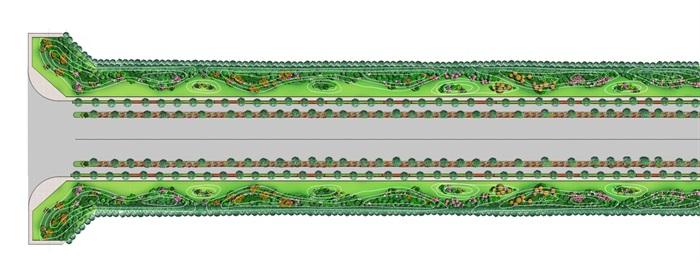 某道路绿化全套施工图及汇报方案(1)