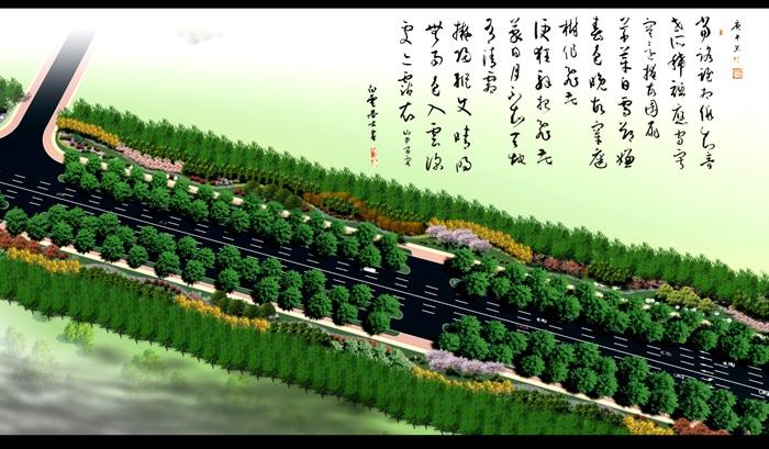 某道路绿化全套施工图及汇报方案(4)