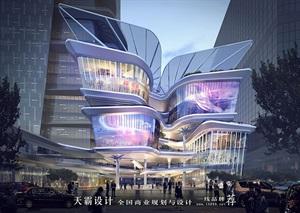 天霸设计盘点购物中心设计效果图精彩外立面设计方案
