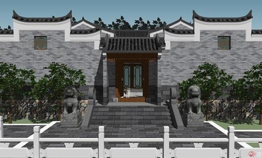 广西四合院建筑设计