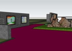 某中式风格村委会景观设计