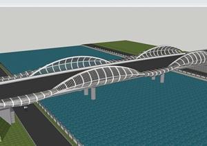 自己没事做的几款景观桥方案