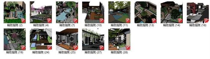 居住住宅中式禪意日式精致庭院景觀設計(1)