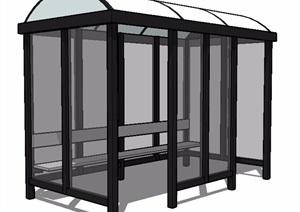 现代拱形顶休息凉亭设计SU(草图大师)模型