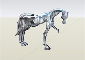 雕塑马素材设计SU(草图大师)模型