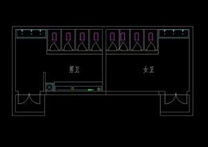 卫生间设计cad平面图