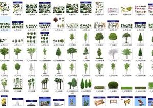 PSD效果图素材园林植物贴图景观效果图素材贴图抠图2.2G