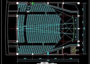 电影院放映厅室内平面图