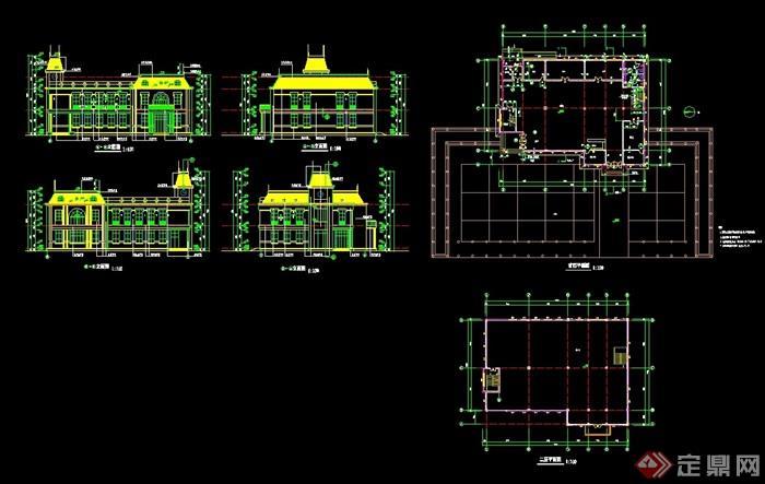 二层会所设计cad方案图