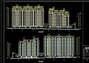 高层商住楼建筑cad方案图