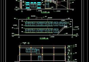 一套完整的多功能食堂建筑cad竣工图