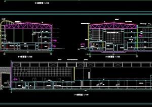 体育会所建筑设计cad施工图