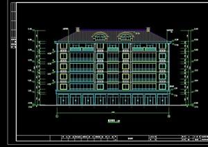中式商住楼设计cad施工图