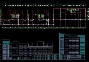 商住楼建筑cad方案图