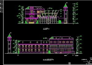 欧式住宅小区会所全套建筑设计cad施工图