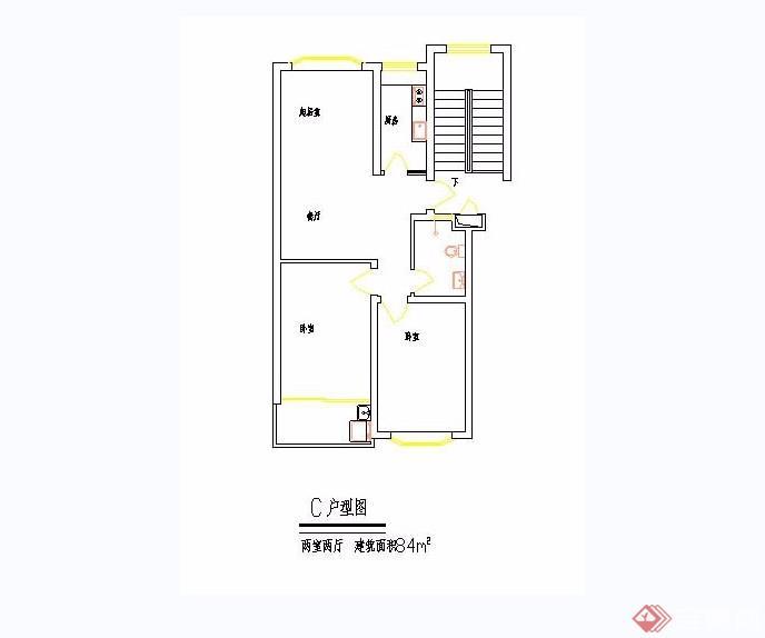 100个住宅经典户型cad平面图