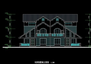 无锡市乐缘恒成别墅建筑设计cad方案