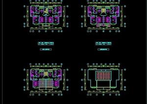 多层住宅楼建筑设计cad平面图
