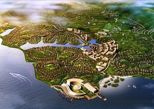 某欧式风格国际度假村规划设计jpg方案