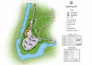 某镇生态旅游景区修建性详细规划cad、jpg方案