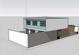 独特多层私人别墅设计SU(草图大师)模型