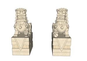 石雕、石狮、中式石雕、中式石狮
