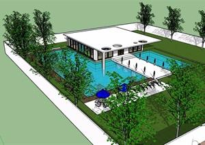 休闲私人住宅别墅设计SU(草图大师)模型