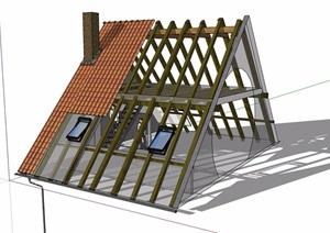 建筑屋顶素材设计SU(草图大师)模型