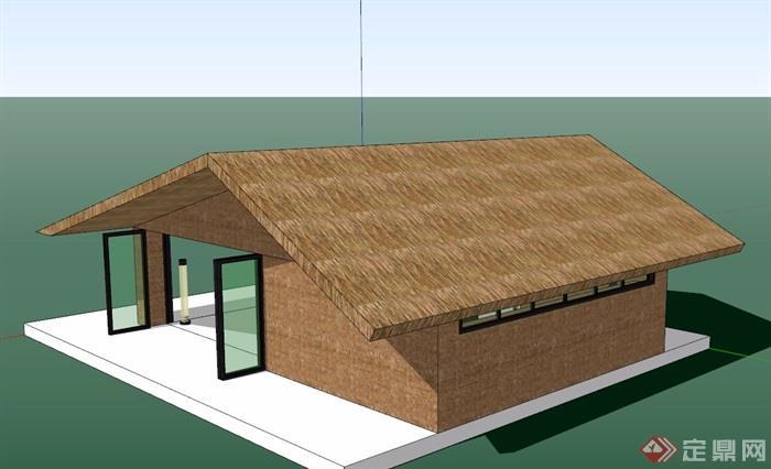 某現代簡約風格詳細的民宿住宅建筑su模型