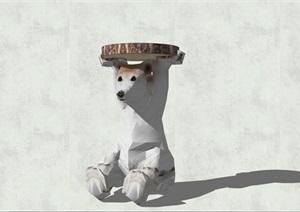 精致简约特色动物工艺茶几设计SU(草图大师)模型