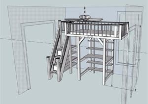 床素材设计SU(草图大师)模型