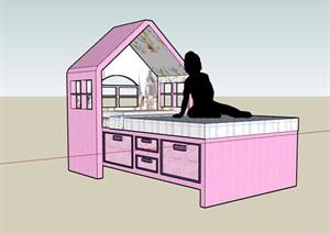 小孩床设计SU(草图大师)模型