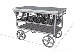 某手推车素材设计SU(草图大师)模型
