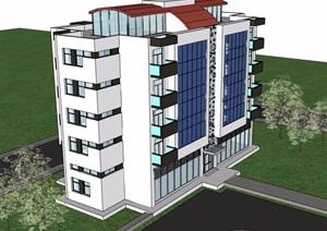 多层居住建筑楼SU(草图大师)模型