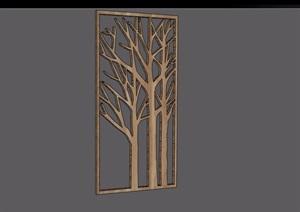 某木质装饰素材设计SU(草图大师)模型