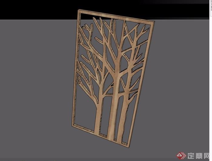 某木质装饰素材设计su模型