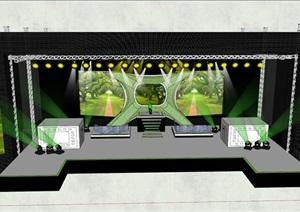 现代演唱会舞台设计SU模型