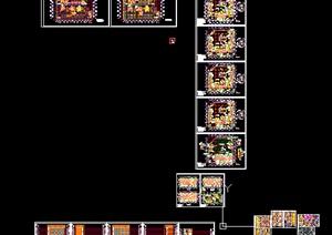 商业广场精细建筑设计施工图
