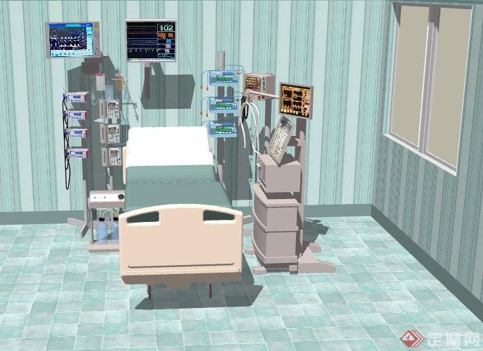ICU病房設計su模型