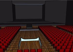 电影放映厅设计SU(草图大师)模型